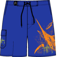 Guy Harvey Up in the Air Men's Board Short in Royal or Black