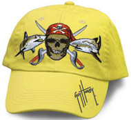 Guy Harvey Pirate Shark Youth Hat in Royal Blue, Sparkle Pink or Yellow