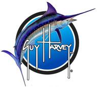 """Guy Harvey 8"""" Blue Marlin Sticker in Blue"""