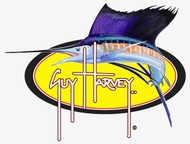 "Guy Harvey 8"" Sailfish Oval Sticker in Yellow"