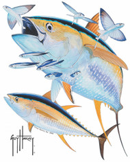 Guy Harvey Yellowfin Tuna Window Decal