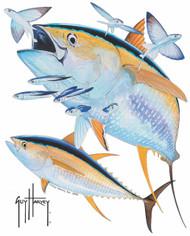 Guy Harvey Yellowfin Tuna Window Decal