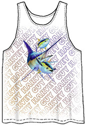 Guy Harvey Young Man's Harvey Marlin Men's Tank Top in White