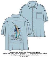 Guy Harvey Bolt of Blue Limited Edition Woven Shirt in Blue