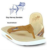 Guy Harvey Blue Marlin Mens Sandal in Brown