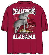 Guy Harvey Alabama 2011 BCS Championship Back-Print Pocketless Men's Tee in Black, Crimson or Athletic Heather