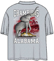 Guy Harvey Alabama 2011 BCS Championship Back-Print Pocketless Men's Tee in Athletic Heather