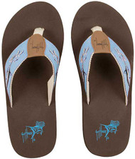 Guy Harvey Swimming Marlin Ladies Sandal in Blue