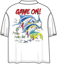 Tom Waters Game On  Back-Print Tee w/ Pocket in Denim Blue or White