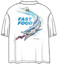 Tom Waters Fast Food Back-Print Tee w/ Pocket in White or Green