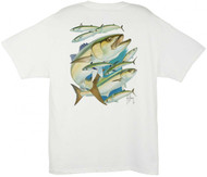 Guy Harvey Bluefish Men's Back-Print Tee w/ Pocket in Navy Blue or White