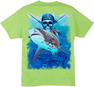 Guy Harvey King Tiger Boys Tee Shirt in Lime, Black or White