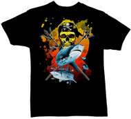 Guy Harvey Neptune Boys Tee Shirt in Black, Lime, Turquoise or Orange