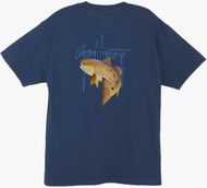 Guy Harvey GH Red Men's Back-Print Tee w/ Pocket in White, Ocean Blue or Navy Blue