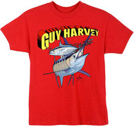 Guy Harvey Super Guy Boys Tee Shirt in Red, White and Royal Blue