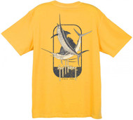 Guy Harvey Vintage Airborne Back-Print Men's Tee w/ Pocket in Vintage Seafoam, Vintage Crimson or  Vintage Citrus