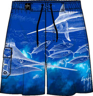 Guy Harvey Pursuit Men's Fakie Board Short in Royal or White