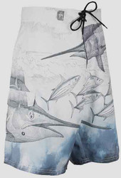 Guy Harvey Pursuit Men's Board Short in White or Yellow