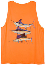 Guy Harvey Grand Slam Vintage Back-Print Men's Tank Top in  Vintage Melon