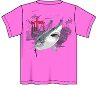 Guy Harvey Pirate Shark 3 Neon Boys Tee Shirt in Neon Pink, Neon Yellow or Neon Orange