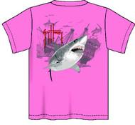 Guy Harvey Pirate Shark 3 Neon Boys Tee Shirt in Neon Pink, Neon Yellow or Neon Orange