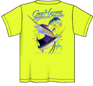 Guy Harvey Offshore Classic Neon Boys Tee Shirt in Neon Pink, Neon Yellow or Neon Orange