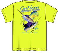 Guy Harvey Offshore Classic Neon Boys Tee Shirt in Neon Pink, Neon Yellow or Neon Orange
