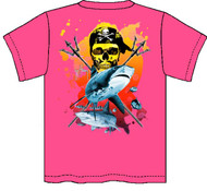 Guy Harvey Neptune Neon Boys Tee Shirt in Neon Pink, Neon Yellow or Neon Orange