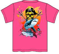 Guy Harvey Neptune Neon Boys Tee Shirt in Neon Pink, Neon Yellow or Neon Orange