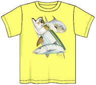 Guy Harvey Flats Slam Boys Tee in Yellow or Denim Blue
