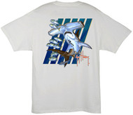 Guy Harvey Hammer Don't Hurt Me  Men's Back-Print Tee w/ Pocket in Black, White or Orange