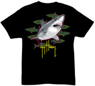 Guy Harvey Neon White Boys Tee Shirt in Black, Orange, Hot Pink and Royal Blue