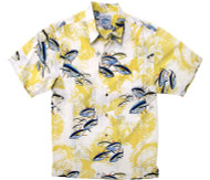 Guy Harvey Big Catch- Woven, Aloha-Style Shirt in Yellow
