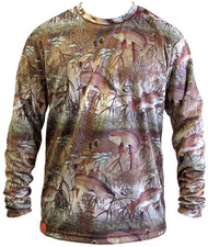 Guy Harvey Edge Camo Men's Performance Tee in Khaki (Short and Long Sleeve)