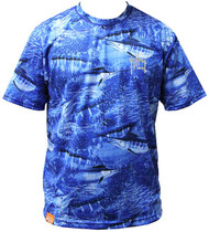 Guy Harvey Legend Camo Men's Back-Print Performance Tee in Royal Blue (Short and Long Sleeve)