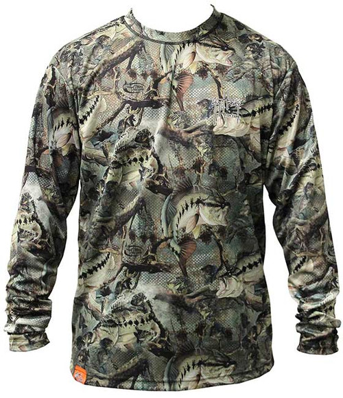 Guy harvey strike fish camoflage men 39 s back print for T shirt printing columbia mo