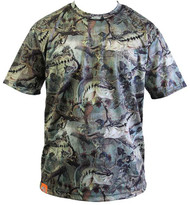 Guy Harvey Strike Camo Men's Performance Tee in Fatigue (Short and Long Sleeve)