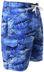 Guy Harvey Legend Camo Board Short in Royal Blue