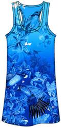 Guy Harvey Jungle Jive Ladies Tee Dress in Blue