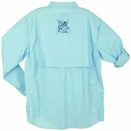 Guy Harvey Grand Slam Technical Fishing Shirt (Long or Short Sleeve) in Aqua Blue, Sky Blue, Yellow, Tan, Black, Kiwi, Melon or White
