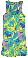 Guy Harvey Butterfly Collage Ladies Tee Dress in Yellow