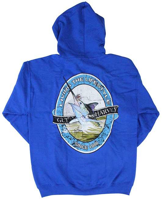 dbdc0b815cbbb Guy Harvey Lifestyle Label Man s Fleece Zip-Front Hoodie