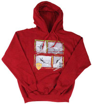 Guy Harvey Just the Facts Men's Front-Printed Fleece Pull-Over Hoodie in Red or Military Green