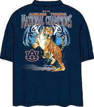 Guy Harvey 2010 Auburn Tigers BCS Championship Back-Print Pocketless Tee in White, Navy or Orange