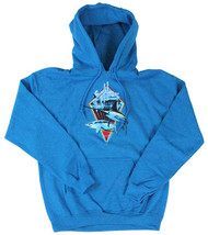 Guy Harvey Fight Club Men's Front-Printed Fleece Pull-Over Hoodie in Charcoal Gray or Sapphire