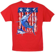 Guy Harvey Swordfish Flag Boys Tee in Red, Turquoise or White