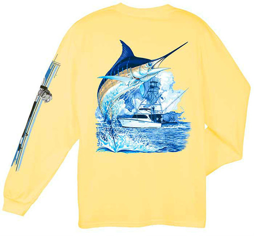 Marlin Boat Also Available in Short Sleeve (Colors Vary)
