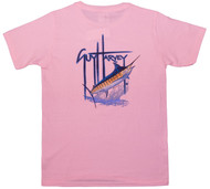 Guy Harvey GH Blue Back-Print Short Sleeve Ladies Tee in Pink, Dark Pink and Blue