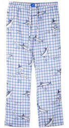 Guy Harvey Plaid Unisex Dorm Pant in Blue or Pink