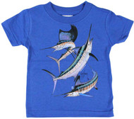Guy Harvey Grand Slam Infant Tee Shirt in Key Lime and Royal Blue